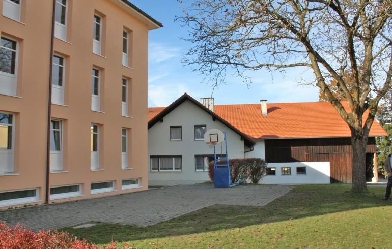 Basketballplatz Innenhof