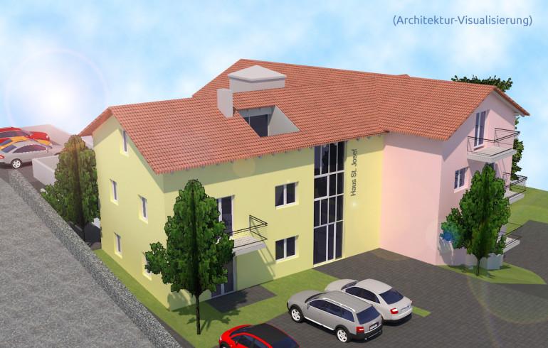 Das geplante neue Gebäude (3D-Visualisierung)